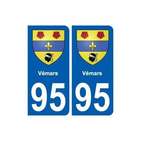95 Vémars blason autocollant plaque stickers ville droits