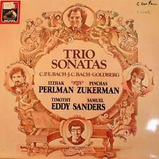 PERLMAN/ZUKERMAN Trio Sonatas (Bach) LP. EMI 1C 067-43 055. 1982. Germany.