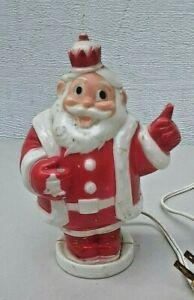 Vintage-50-039-s-hard-plastic-lighted-Santa-bank-harett-gilmar-inc-Santa-claus