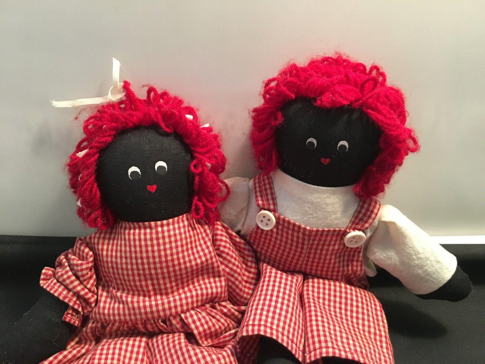 Raggedy Dolls :  Boy and Girl – 2 pcs. Dolls Set  D-3