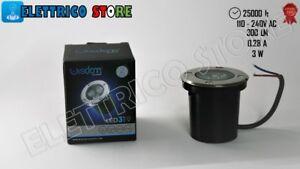 SEGNAPASSO FARETTO LED  LAMPADA LUCE 3W WATT GIARDINO ESTERN IP67 SEGNAPASSI