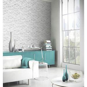 Blanc Papier Peint Brique Arthouse Vip 623004 Nouveau Decor De