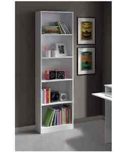 Image Is Loading White Gloss Bookcase Shelving Unit Storage Shelves Tall