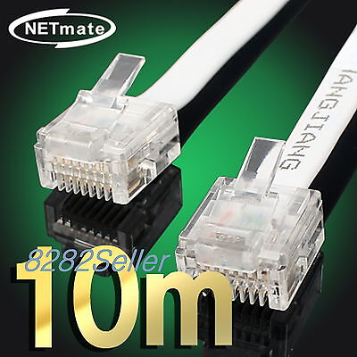 10m 30ft CAT6 Flat Ethernet Network Cable UTP LAN Patch CAT 6 1GBase-T RJ45 A