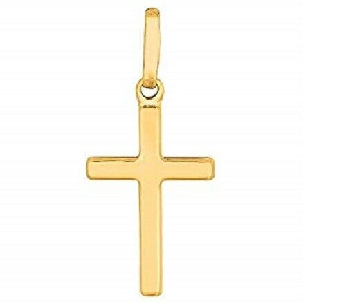 14K .585 Yellow Gold Women/'s Cross Pendant Charm NEW