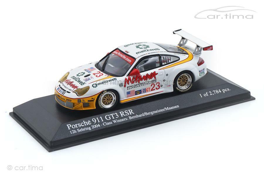 directo de fábrica Porsche 911 gt3 rsr - 12h Sebring 2004-berhard 2004-berhard 2004-berhard Berg maestro-Minichamps 1 43  descuento de ventas en línea