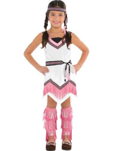 Age 3-10 Girls Native Red Indian Fancy Dress Book Week Costume Pocahontas Kids