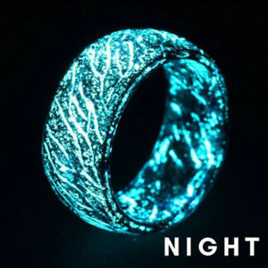 Dark tone with blue ornament womens ring Size 8