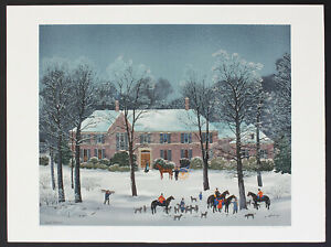 Michel Delacroix French Original Lithograph Winter Scene Hand Signed & Numbered