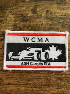 Vtg-WCMA-ASN-Canada-FIA-Embroidered-Sew-On-Patch-Indy-Formula-Racing-F1-Badge