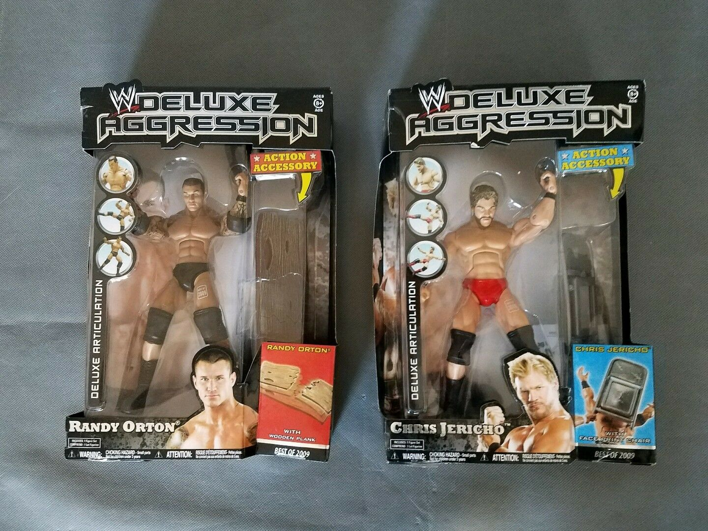 Best of 2009 Chris Jericho and Randy Orton W Deluxe Aggression Wrestling Figure