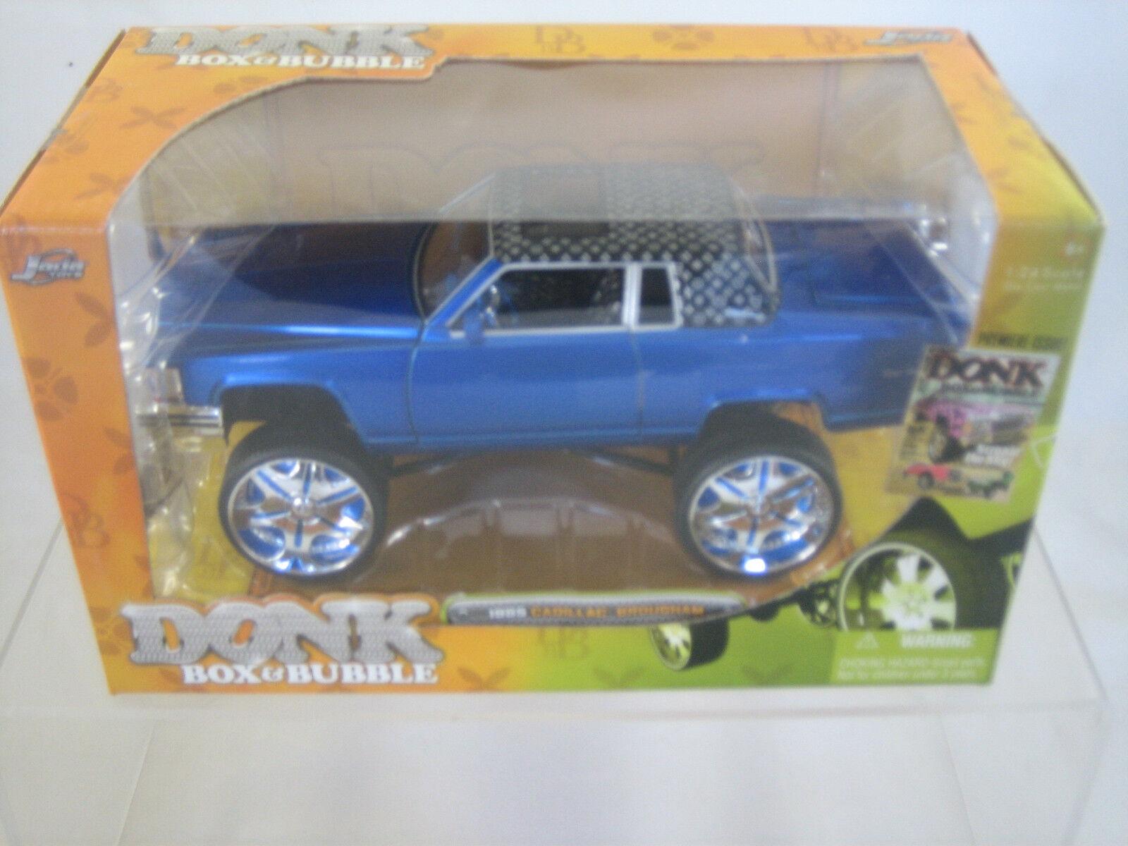 Jada -1985 Cadillac Brougham-Donk caja y burbuja 100% Die Cast 1 24 Escala