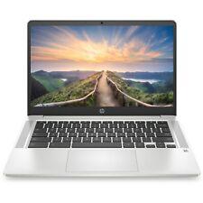 "HP Chromebook 14"" Hd Intel Quad Core 2.7GHz 64GB Ssd 4GB Ram Webcam + Microfone televisão britânica"