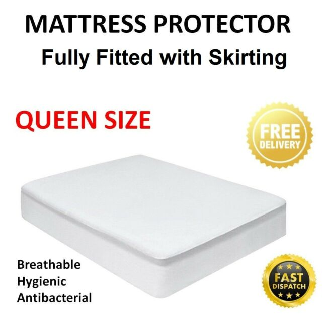 Waterproof Mattress Matress Protector Anti Dust-mite Fully Fitted QUEEN SIZE NEW