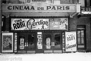 "CINEMA DE PARIS black white 1920 vintage print for glass frame 36"" x 24"""