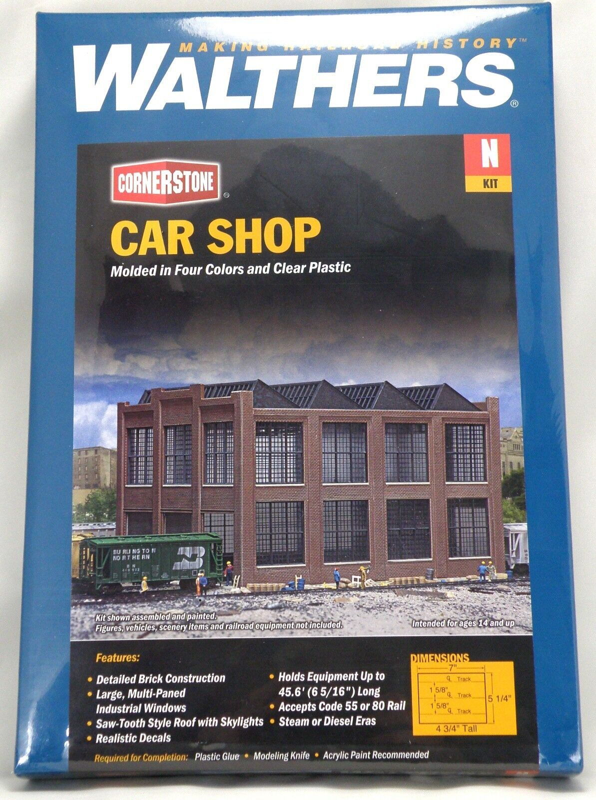 N Scale Car Shop Structure Kit - Walthers 523afbvry52123-N