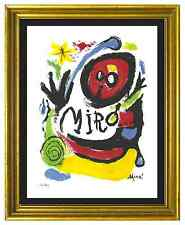 "Joan Miro Signed & Hand-Numbered Ltd Ed ""Tres Livres "" Litho Print (unframed)"