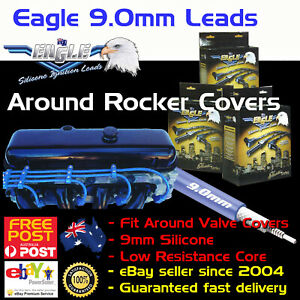 EAGLE-9-0mm-Ignition-Spark-Plug-Leads-SB-Chev-Around-Valve-Cover-HEI-350