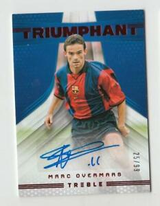 2018-19 Panini Treble Soccer Autograph Auto Card :Marc Overmars #25/99