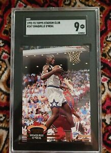 1992 Stadium Club Members Only Shaquille O'Neal ROOKIE RC #247 SGC 9 MINT