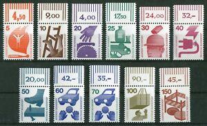 Bund-694-703-773-OR-komplett-Oberrand-postfrisch-Unfallverhuetung-BRD