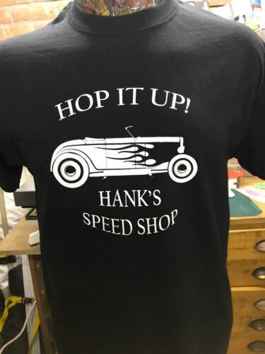 """*** NOUVEAU *** /""""Hop It Up/"""" Hot Rod Noir T Shirt Rockabilly 40s//50s livraison gratuite"""