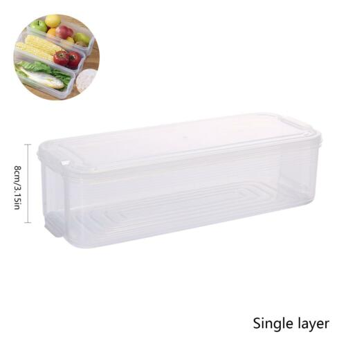 Reusable Kitchen Fridge Food Fruit Storage Container Clear Preservation Box Case
