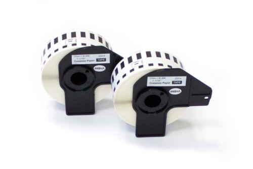2 ROLLEN ETIKETTEN 27mm x 30.48m eco für BROTHER P-touch QL-500BS