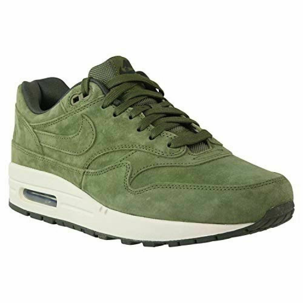 Canvas Premium Men's 1 Sequoia 875844 301 Nike Air Green White Max Suede Olive GqSVpUzM