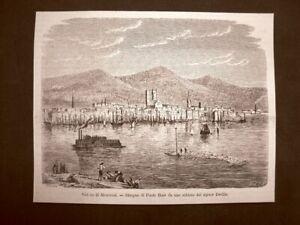 Rarissima-veduta-di-Montreal-del-1863-Quebec-Canada