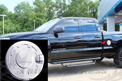 14 15 16 Chevy Silverado 1500 15 16 Silverado HD Chrome Gas Tank Fuel Door Cover