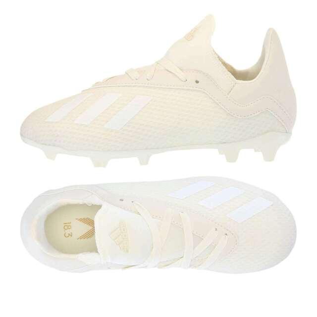 03051bc17a adidas Unisex X 18.3 Firm Ground Soccer Shoe White 4 M US Big Kid