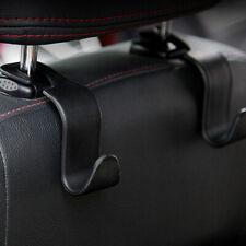 periwinkLuQ Car Hooks 4 Pack Vehicle Back Stainless Steel Seat Headrest Storage Organizer Hanger Hook Mount Bag Hanger Organizer Silver