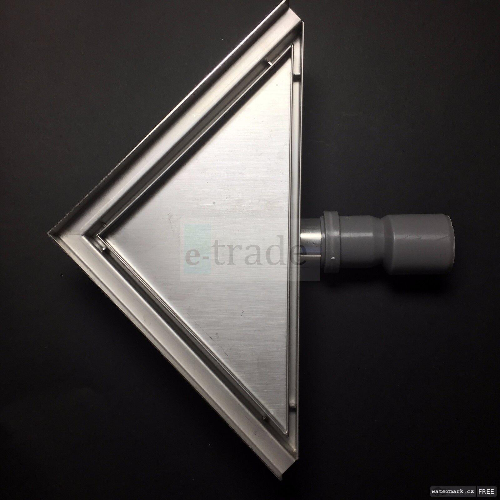 Stainless Steel Steel Steel linéaire Floor SHOWER DRAIN GUTTER Tile Corner Triangle 25x25cm | Conception Moderne  20cb82