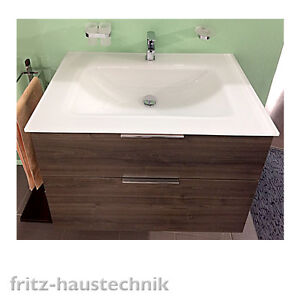 burgbad eqio glas waschtisch set mit unterschrank marone dekor 620 o 920mm ebay. Black Bedroom Furniture Sets. Home Design Ideas