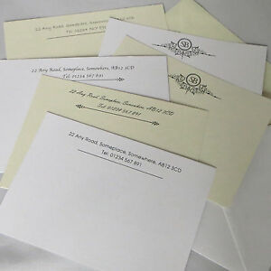 image is loading personalised correspondence cards note card writing set thank