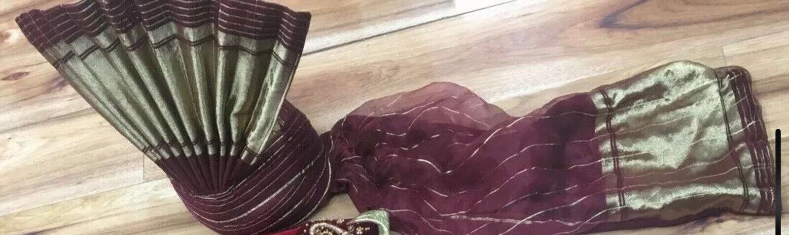 Asian Groom Wedding Turban (Qulla) - Brand New Flexible Size