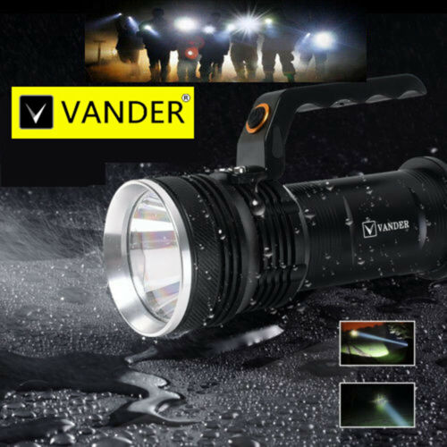 Super Bright LED Flashlight 30000LM Waterproof Torch 3 Mode Emergency Light