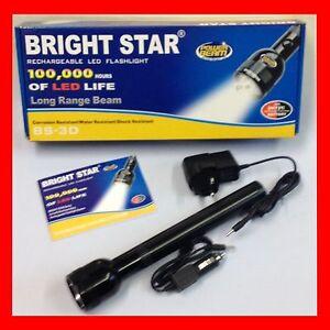 Bright star rechargable led flashlight with power beam ebay for Bright beam goods