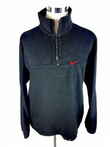 a9be5a521af Nike Mens Fleece 1/2 Zip Pullover Sz XL Black 90's White Label Retro ...