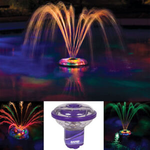 Details About Inground Above Ground Pool Light Up Multi Color Led Floating Fountain Underwater