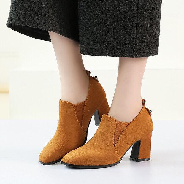 stivali stivaletti bassi scarpe 7 cm giallo ocra eleganti simil pelle 9494