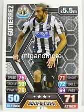 Match Attax 2013/14 Premier League - #211 Jonas Gutierrez - Newcastle United
