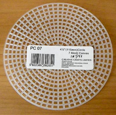 PC07 7 HPI Plastic Canvas Cercles-Per Pack de 5 5