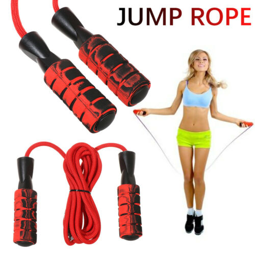Fitness Ball-Bearing Jump Rope Skipping Rope Foam Handle Braided Cable