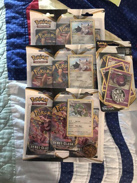 (3) Pokemon Sword & Shield REBEL CLASH 10 Card Pack Blister Booster 9 Packs +1