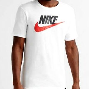 reputable site 15a39 b8392 Image is loading AUTHENTIC-NIKE-FUTURA-ICON-WHITE-T-SHIRT-696707-