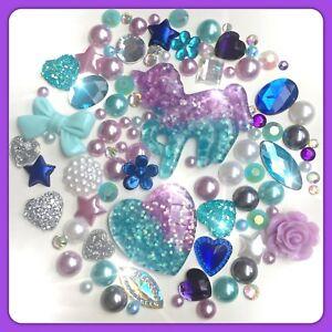 Silver Star Sparkle Theme Cabochon Crystal Gem /& pearl flatbacks decoden crafts