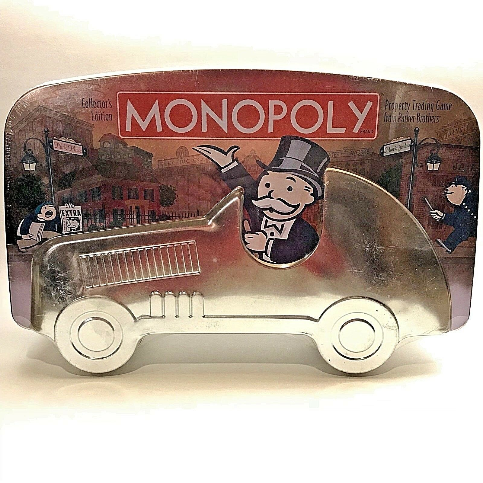 NEW Monopoly Collectors Edition Tin Race Car Sealed Board Game