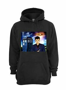 David Tennant Hoodie - Black - Size 2XL - The Doctor, Dr Who, 10, Tardis